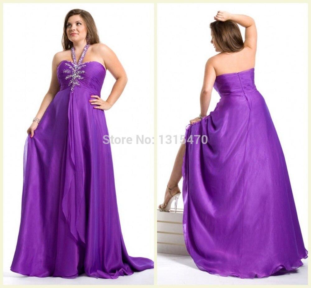 Plus size formal halter dresses
