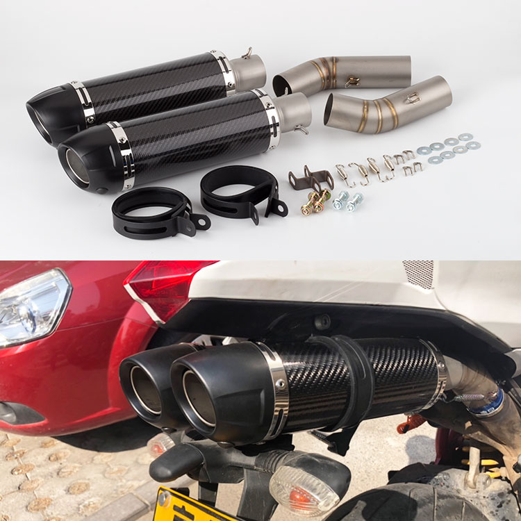 Motorcycle Exhaust muffler full System Slip On Middle Pipe Link 848 Muffler For <font><b>Ducati</b></font> 848 EVO <font><b>1098</b></font> 1198 S/R 848 exhaust image