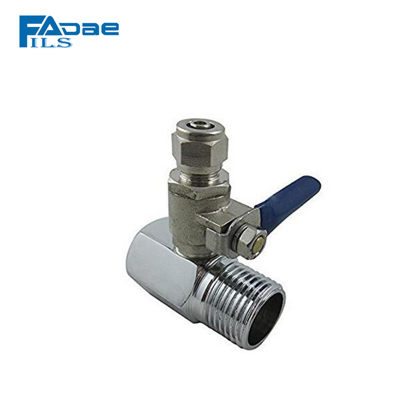 Reverse Osmosis System Feed Water Adapter 1/2″ to 1/4″ Ball Valve Faucet Tap Feed