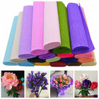 25*250cm Crepe Paper Flower Making Wrapping DIY Scrapbooking Craft Crinkled Paper Gifts Packing Home Wedding Decoration