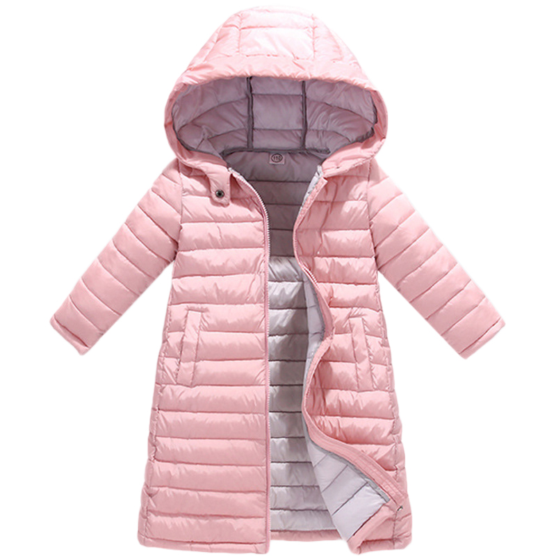 Children Girl Jackets for Girls Autumn Winter Down Coat Clothing Kid Hooded Thin Cotton Padded Jacket Parka Long Outerwear цены онлайн