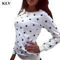 2017 Autumn Winter Women Long Sleeve Star Print Sweater Girl Pullover Loose Sweater Jumper Top Lady Casual Wool Outwear  Oct 20