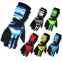 Warm Winter Ski Gloves Men Waterproof Snowboard Gloves Male Snowmobile Motorcycle Riding Cycling Winter Sports Boys