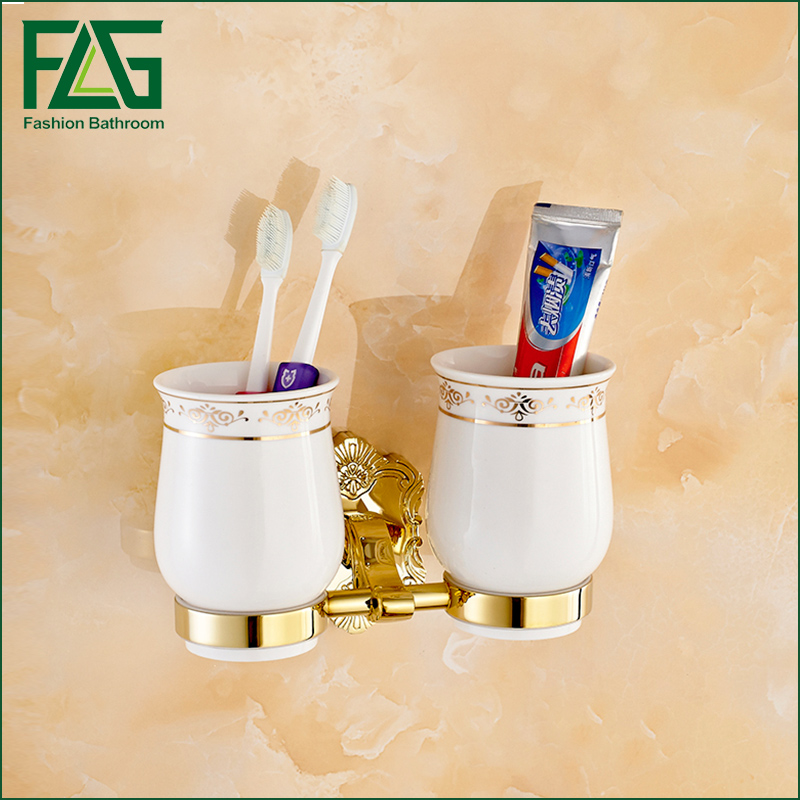 Free Shipping Brass Gold Double Tumbler Holder Cup&tumbler Holders Tumbler Toothbrush Holder Bathroom Accessory server 39y7377 39y7378 835w xseries x3650 x3550 x3400 power tested working good