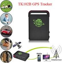 Tiempo Real GPS/GSM/GPRS Car Tracker GPS TK102 Dispositivo de Seguimiento de Localización En Tiempo Real Del Coche Del Vehículo Más de velocidad de Alarma tk102b