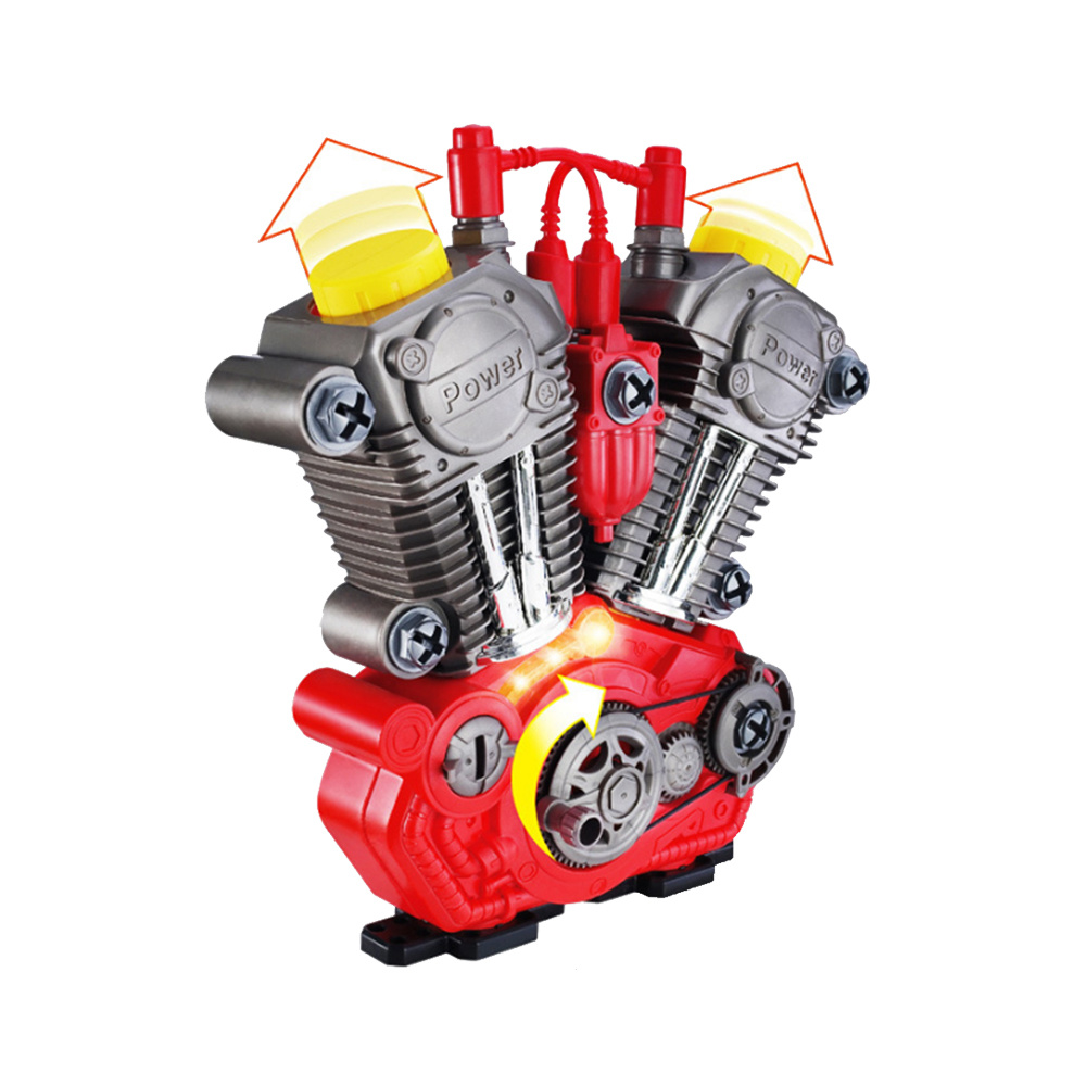 2019 Children Disassembly Assembly Motor Engine Toy Puzzle Hands-On DIY Repair Tools Set Boys Kids Gifts School Demonstration