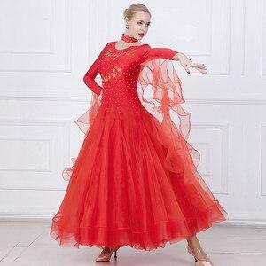 Image 4 - Women Ballroom Dance Dresses Standard Ballroom Dancing Clothes Competition Standard Dance Dress Waltz Foxtrot Dress