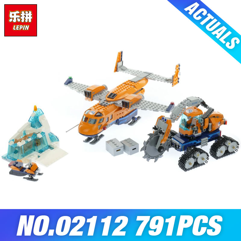 Lepin 02112 City Series The 60196 Arctic Supply Plane Set Building Blocks Bricks Kids Educational Toys Boy's DIY Christmas Gifts