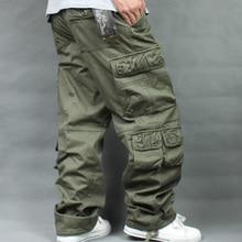 Осень зима флис утолщенный комбинезон хип хоп мужские длинные брюки мужские Мешковатые повседневные брюки теплые плюс размер 40 мужские s низ