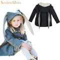 Модули Новый зимняя куртка девушки животное кролик дизайн хлопок весна осень девочка пальто дети куртки детские пальто для девочек одежда