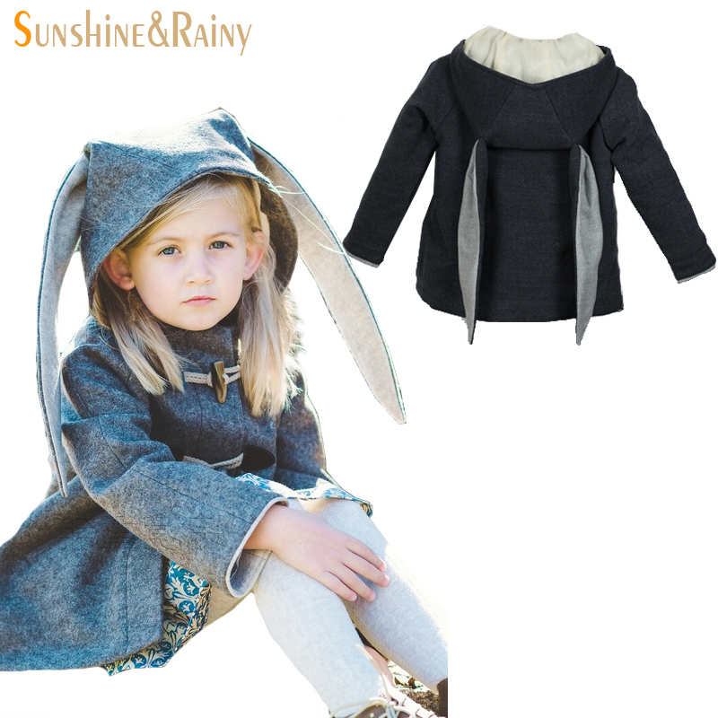 Ins New winter girl jacket animal rabbit design cotton spring autumn baby girl coat children jackets kid coat for girls clothing