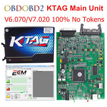 Основной блок KTAG V2.13 k тег FW V6.070 V7.020 ЭБУ инструментов программирования K-TAG 7.020 мастер версия без маркеров Limited Бесплатная доставка