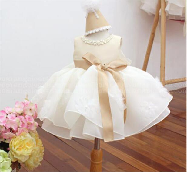 Hot sale 2017 Summer Girls Birthday Dress One-Piece Dresses Princess Children Clothes For Kids Baby Wedding Party Dress 2018 summer new arrival girls pleated chiffon one piece dress with paillette collar children colthes for kids baby pink green