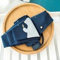 TECHOME UV Protect Umbrella Mini Pocket Compact Folding Sun Uv Rain 5 Light Anti Small New