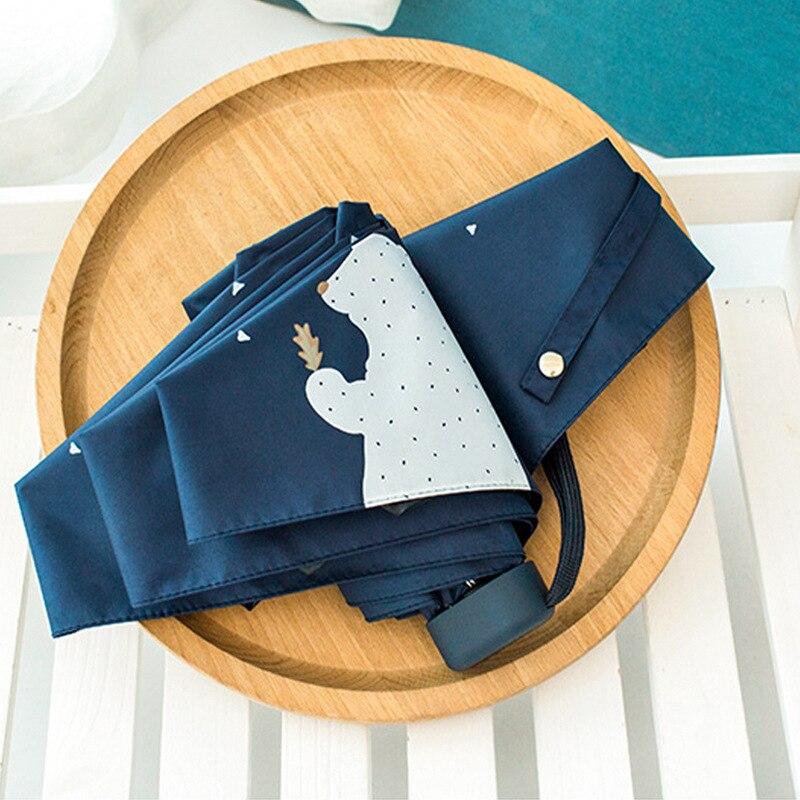 TECHOME Uv-schutz Regenschirm Mini-tasche Kompakt Folding Sonnenschutz Uv Regen 5 Licht Anti Kleine Neue Reise