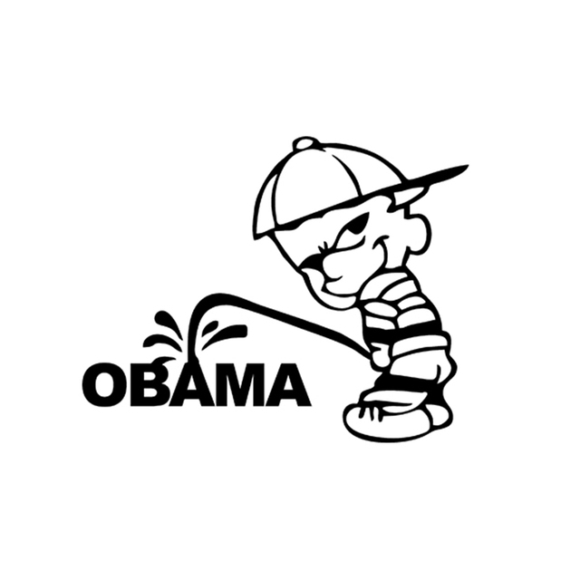 Funny bad boy piss pee on obama jdm sticker car window truck bumper suv door laptop