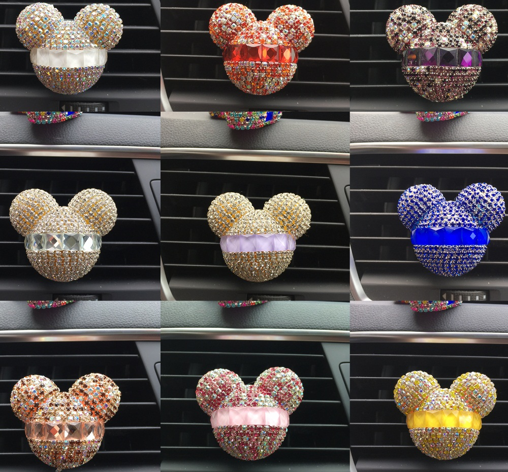 Air Freshener: Rhinestone Air Outlet Perfume   Exquisite Car Perfume Car Mounted Drilling Perfume Air Conditioner Car Air Freshener styling