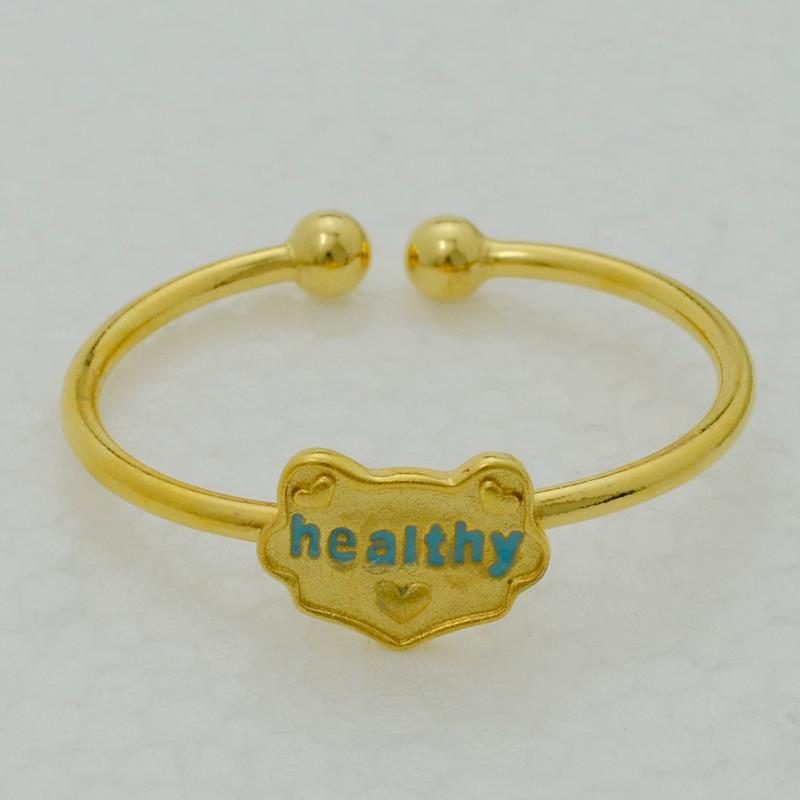 Anniyo healthy baby bangle gold color cartoon cat heart jewelry
