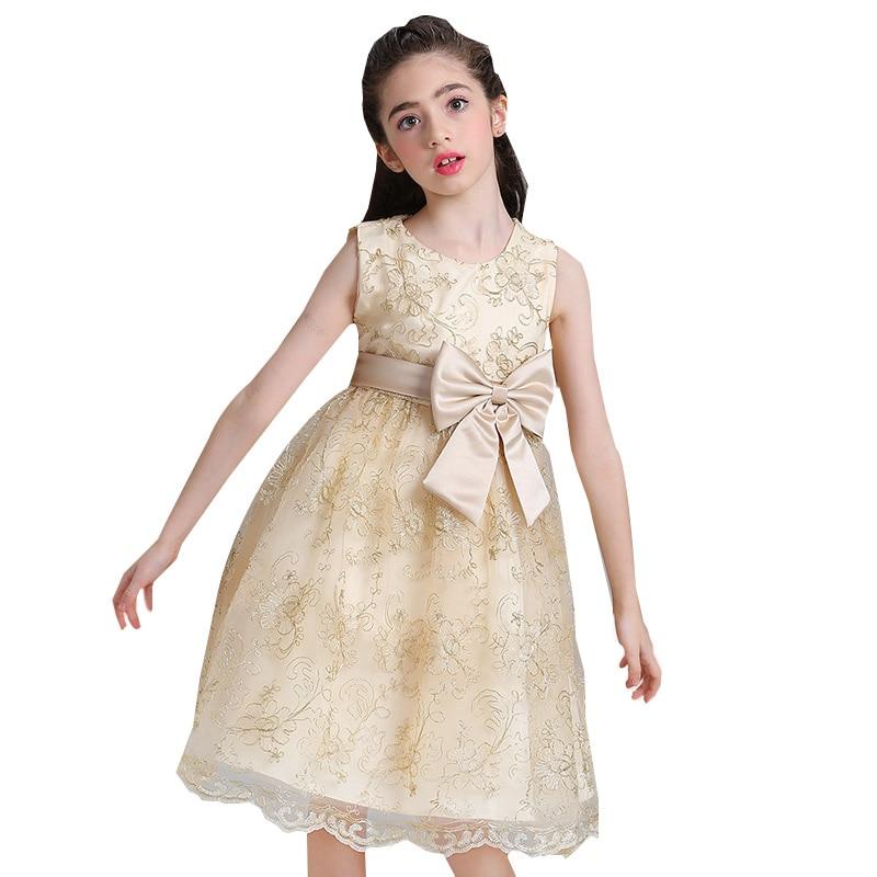 Retail Flower Girl Dresses Children Clothing Kids Ball Gown First Communion Girls Pageant Dresses Elegant Evening Dress L9027