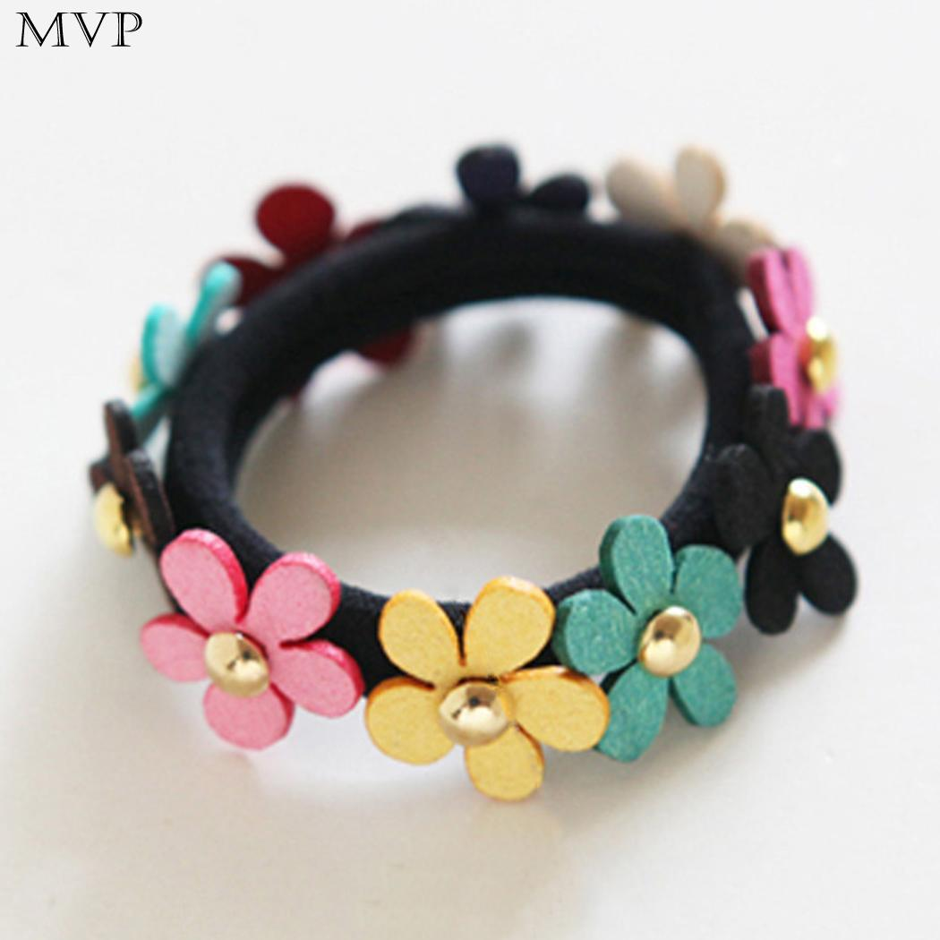 Girl Children Women Ponytail Holder Band Button Shape Elastic Rubber Band Hair Ties 4mm 0 2inch 4 5cm 1 8inch Men's Headbands