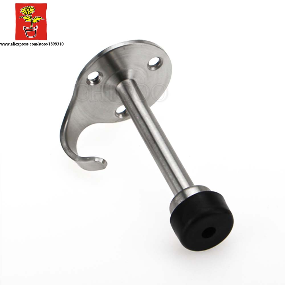 Satin stainless steel wall mounted hook - Aliexpress Com Buy Chicoo Diy Choice Decorative Hardware Stainless Steel Door Stop With Hook Wall Mounted Door Stops From Reliable Stopper Bottle