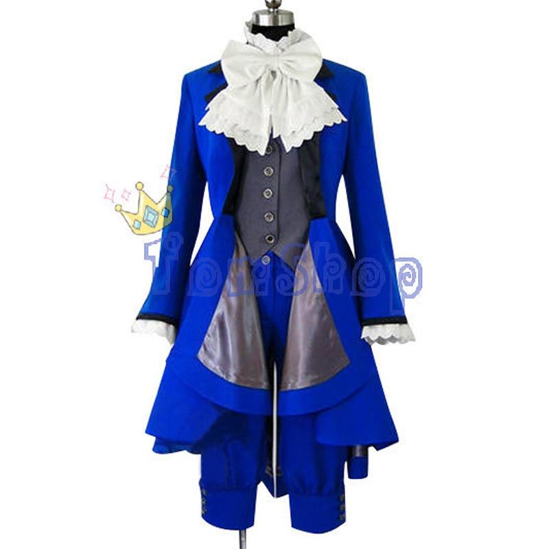 Black Butler 2 Ciel Phantomhive Blau Herren Cosplay Kostüm Party Kleid Halloween