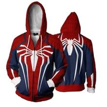 Ps4 Insomniac Spiderman Cosplay Women Men Costume Fashion Hoodie Sweatshirt Game Anime Hooded Zipper Jacket