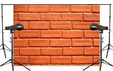 7x5ft Exquisite Clearly Orange Brick Photography Background Kids Wedding Photo studio Backdrop photography Wall