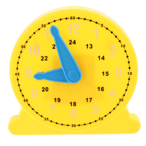 Funny Teaching Clock Learning Time Educational Toy Clock w/ Hand, Clear Dial Plate Teach Time & Number Puzzles