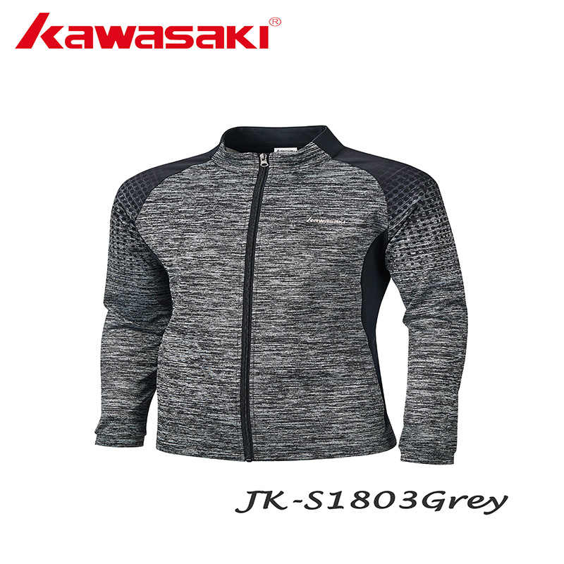 Kawasaki Men's Running Jackets Fitness Sports Coat Hooded Tight Hoodie Gym Football Training Running Jogging Jackets JK-S1803
