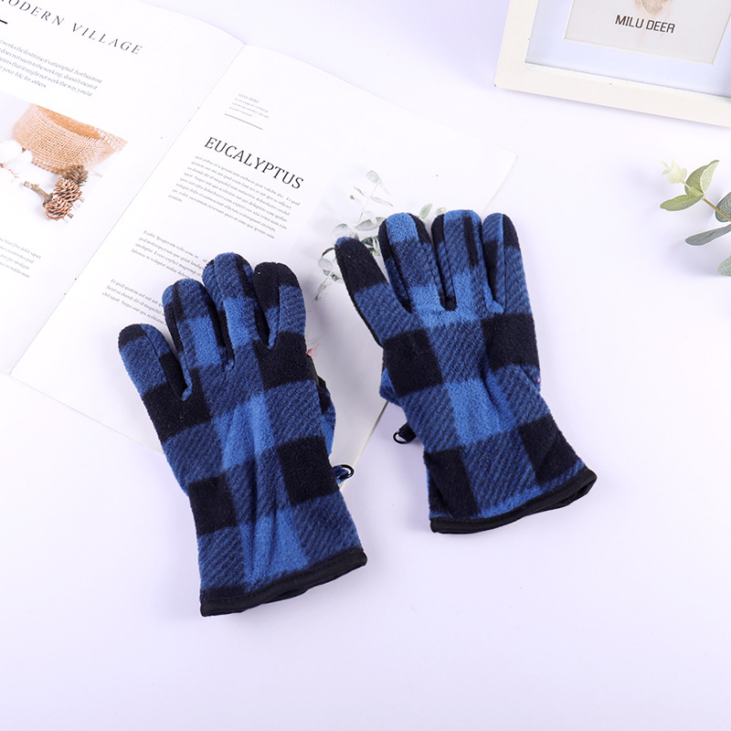 Winter Children's Gloves 3 12 Years Old Warm Wool Gloves