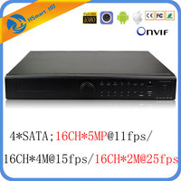 16CH 5MP AHD DVR CCTV 2MP@25fps with 16CH Audio For 4.0MP 1080P HD Camera CVI TVI AHD 6 IN 1 P2P Xmeye DVR Systems 4*SATA