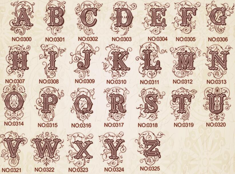 Wax Stamp Copper head Curlicue 26 Letters DIY Scrapbooking Vintage wax sealing stamp wedding/party invitation/envelop gift seal1