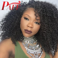 PAFF 180 Density U Part Lace Wig Remy Hair Wig Kinky Curly U Part Wig with Bleached Knots Human Hair Wig for Women Free Shipping
