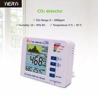 Yieryi 3 в 1 рабочего углекислого газа регистратор диапазон 5000ppm качество воздуха в помещении Температура RH AZ7788A CO2 детектор газа метр