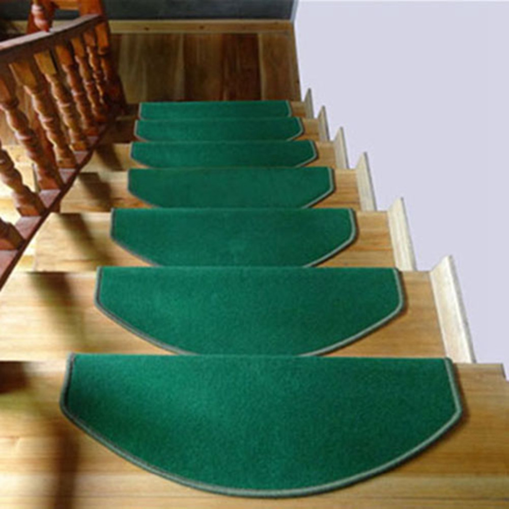 1 Piece Stair Treads Carpet Non-Skid Stair Mats European Thickening Rugs and Carpets for Stair Decor Staircase Mat