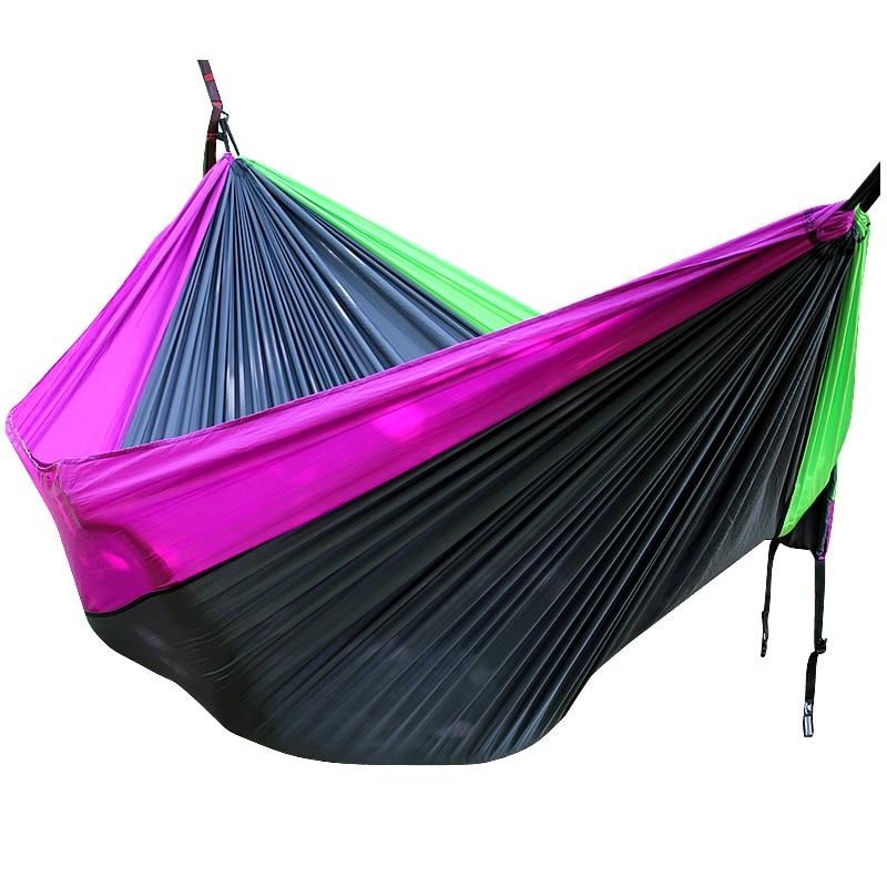 Violet Black Green Nylon Hammock 300cm*200cm Outdoor Furniture