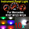 WLJH 10X Wedge Base Led Illumination Instrument Panel Light For Mercedes R107 W123 W124 W201 White Blue Red Green Pink Yellow