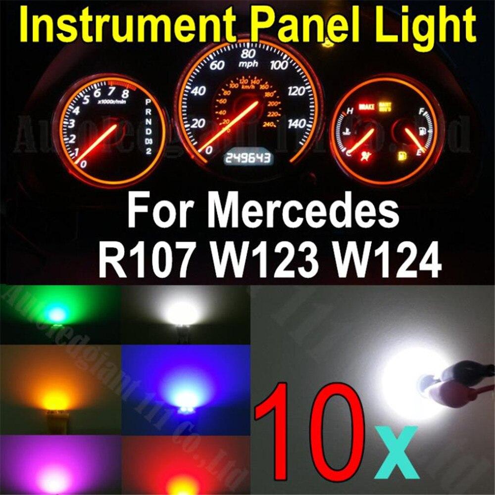 WLJH 10х белый синий красный зеленый розовый YellowWedge основание светодиодная подсветка панели приборов свет для MERCEDES R107 W123 W124 с W201 на