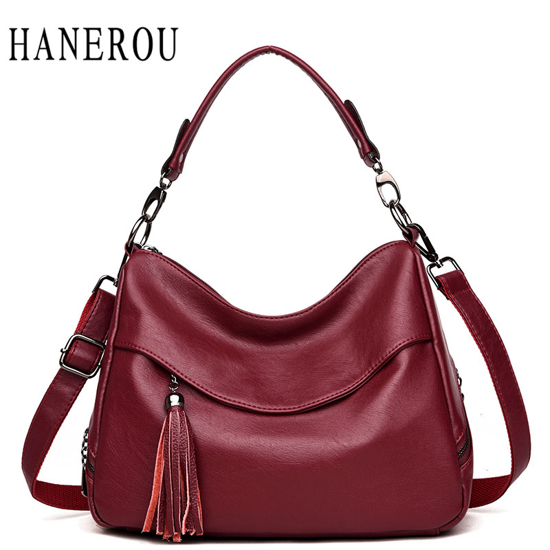 Fashion Tassel Shoulder Bags For Women 2018 Big Capacity Crossbody Bags For Women Bag High Quality Women Leather Handbags Sac retro tiny bell tassel anklet for women