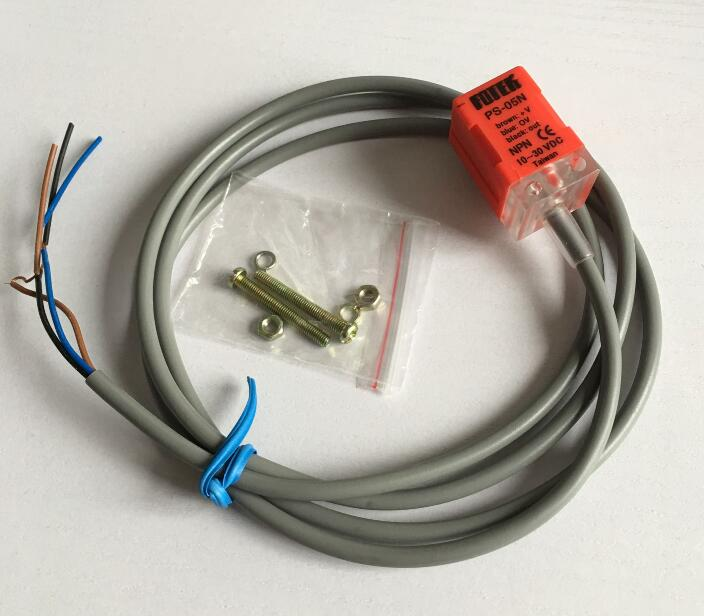 PS-05N Inductive Proximity Sensor Approach Switch 3 WIRE NPN NO DC 10-30V dhl ems 20 sn04 n 4mm approach detect inductive sensor proximity switch dc 10 30v