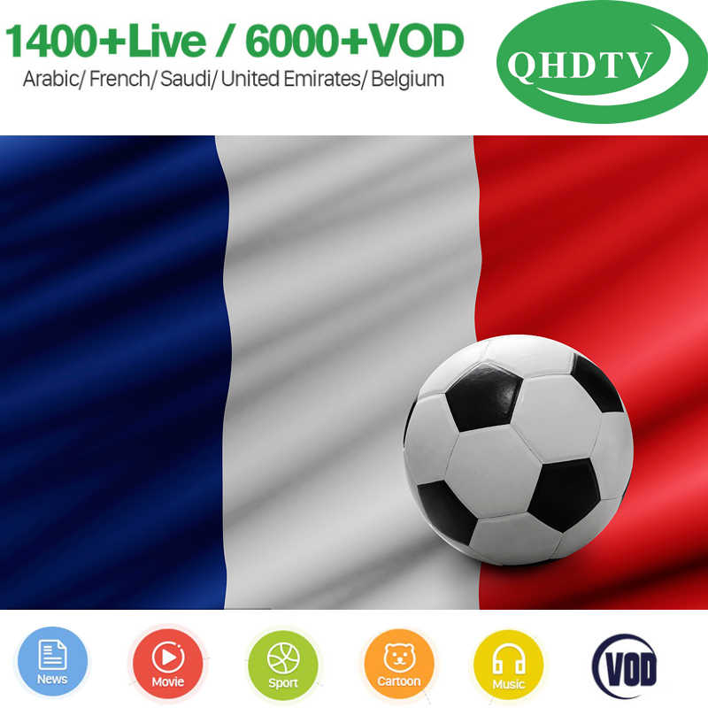 Payment For 1 year QHDTV iptv subscription account 3 6 12 Months arabic iptv Support m3u VLC 4K Full HD French Android TV Box