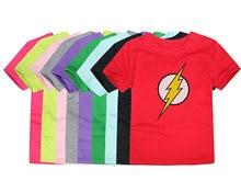 1ada919ca 2018 Summer short sleeve Kids Flash T-Shirt Boys Girls Superhero T Shirt  Children Tops Baby Tees For 2-14 Years
