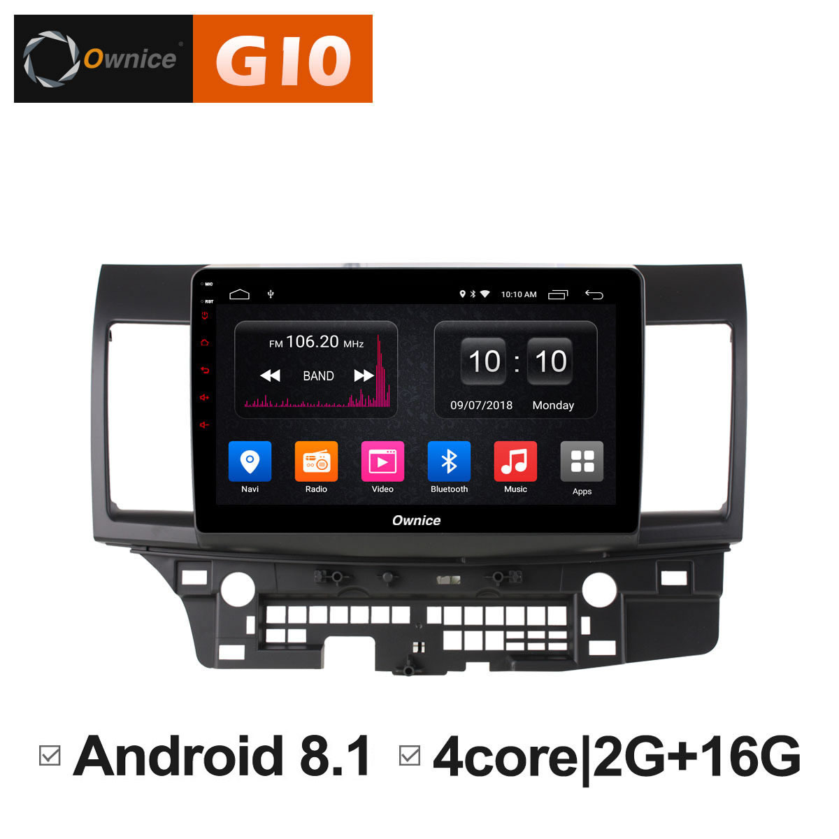 Android 8.1 Unit Intelligent System Car DVD 2 din Radio Multimedia Player for MITSUBISHI LANCER 2016 2016 4G LTE DAB+ DVR GPS PC image