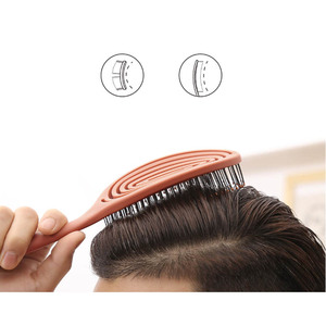 Image 5 - חדש YouPin XINZHI מרגיע אלסטי עיסוי מסרק נייד שיער מברשת עיסוי מברשת אנטי סטטי קסם מברשות ראש קומבס