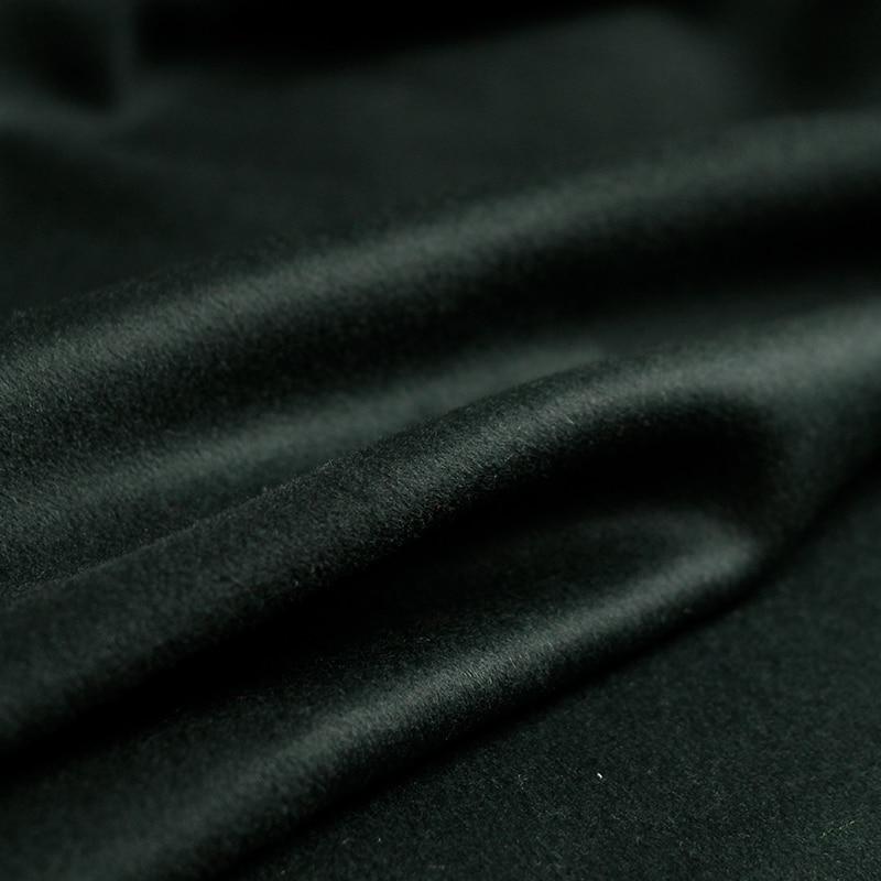 Pearlsilk Verde Scuro doppio lato cashmere 100% In Australia Lana materiali indumento di Inverno cappotto vestiti FAI DA TE tessuti-in Tessuto da Casa e giardino su  Gruppo 2