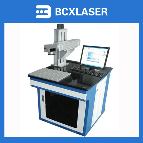 with Ezcard control system table fiber laser marking equipment for metal logo making