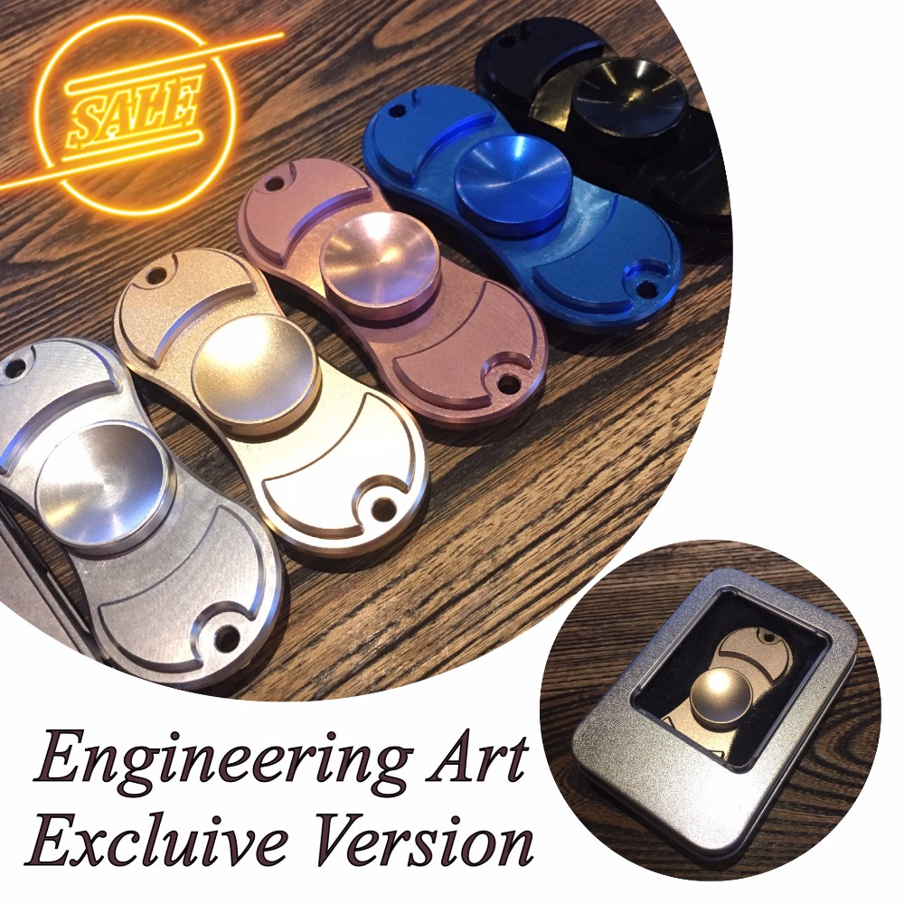 Fidget Hand spinner Engineering art Exclusive version aluminum alloy perfect detail you won t regret creative