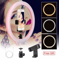 ZM128 128pcs LED Ring Light Dimmable Bi color Makeup Live Broadcast Studio Light Selfie for iPhone Canon DSLR VS YONGNUO YN128