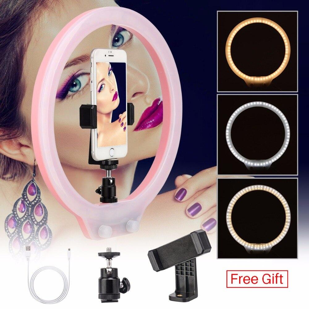 ZM128 128pcs LED Ring Light Dimmable Bi color Makeup Live Broadcast Studio Light Selfie for iPhone Canon DSLR VS YONGNUO YN128
